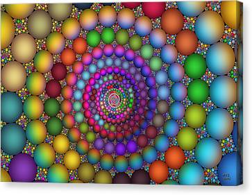 Canvas Print featuring the digital art Hadron Formation by Manny Lorenzo