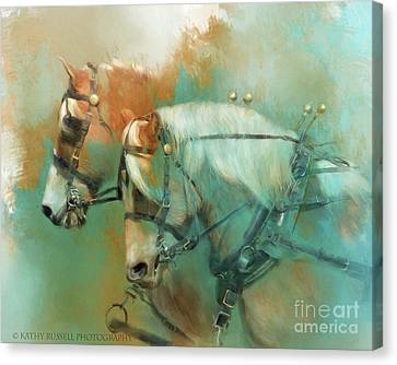 Haflinger Team Canvas Print
