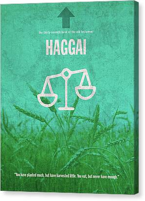 Haggai Books Of The Bible Series Old Testament Minimal Poster Art Number 37 Canvas Print