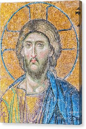 Hagia Sofia Jesus Mosaic Digital Painting Canvas Print