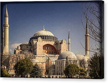 Sightseeing Canvas Print - Hagia Sophia by Joan Carroll