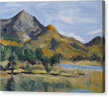 Hahns Peak From Rainbow Point Steamboat Lake State Park Colorado Canvas Print by Zanobia Shalks