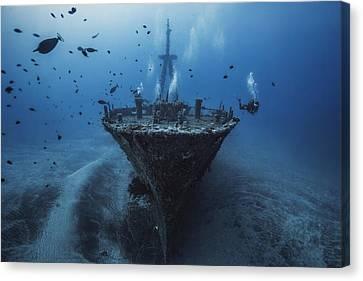 Hai Siang Wreck Canvas Print by Barathieu Gabriel