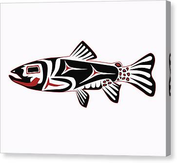 Haida Trout Canvas Print by Rob Tullis