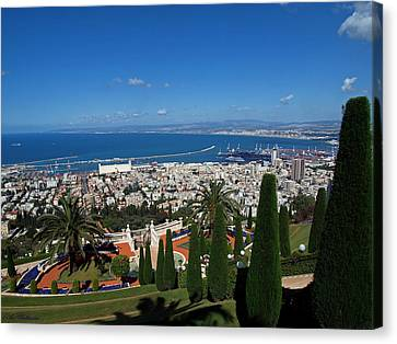 Haifa Bay 2 Canvas Print by Arik Baltinester