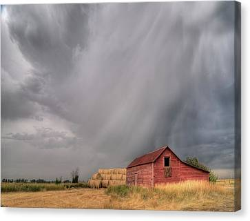 Hail Shaft And Montana Barn Canvas Print