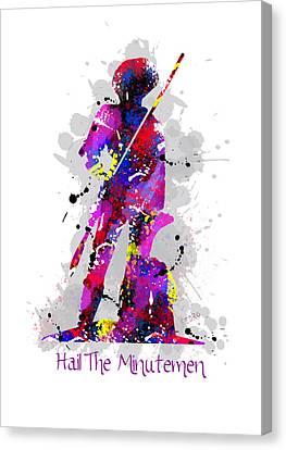 Hail The Minutemen Canvas Print by Peter Stevenson