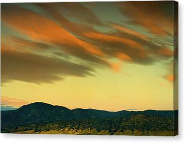 Canvas Print featuring the photograph Hailing The Sky by John De Bord