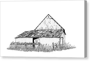 Haines Barn Canvas Print by Virginia McLaren