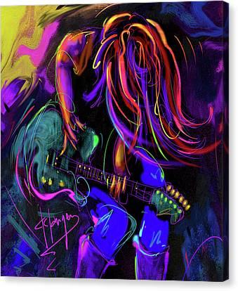 Hair Guitar 2 Canvas Print by DC Langer