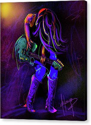Hair Guitar Canvas Print by DC Langer