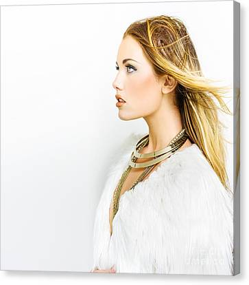 Hair Makeup And Fashion Canvas Print by Jorgo Photography - Wall Art Gallery