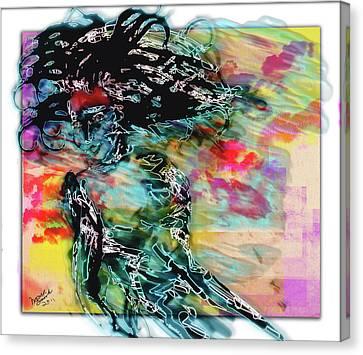 Hair Raiser Canvas Print by Monroe Snook