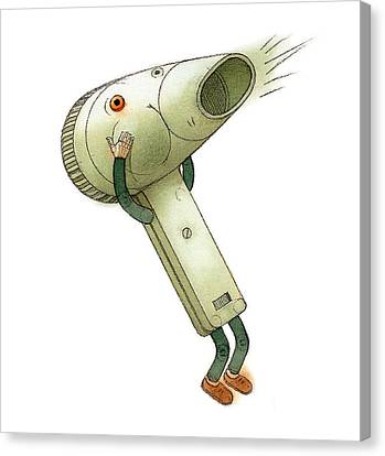 Hairdryer Canvas Print by Kestutis Kasparavicius
