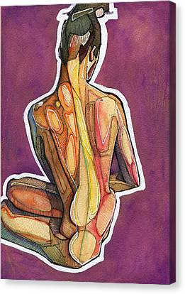 Figure Drawing Canvas Print - Hair Pin by Rob Tokarz
