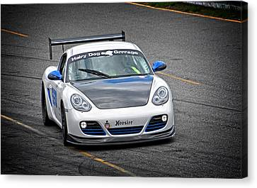 Hairy Dog Garrrage - Porsche - Pit Lane Canvas Print by Mike Martin
