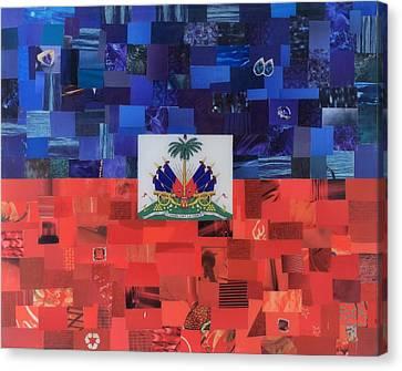 Haiti Canvas Print - Haiti Flag by Claudia Di Paolo