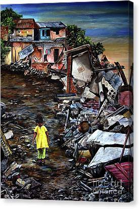 Haiti Out Of The Rubble Hope Canvas Print by Anna-Maria Dickinson