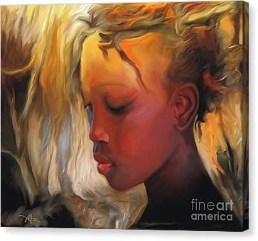 Haitian Beauty Canvas Print by Bob Salo