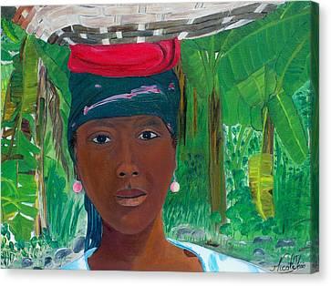 Haitian Woman   2 Canvas Print by Nicole Jean-Louis