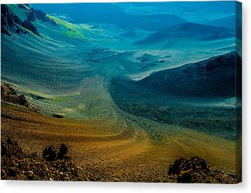 Canvas Print featuring the photograph Haleakala by M G Whittingham