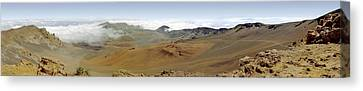 Canvas Print featuring the photograph Haleakala Crater Panorama by Peter J Sucy