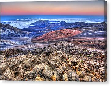 Canvas Print featuring the photograph Haleakala Crater Sunset Maui II by Shawn Everhart