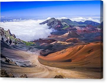 Haleakala Craters Maui Canvas Print by Janis Knight