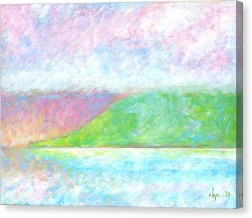 Canvas Print featuring the painting Haleakala Dawn by Angela Treat Lyon