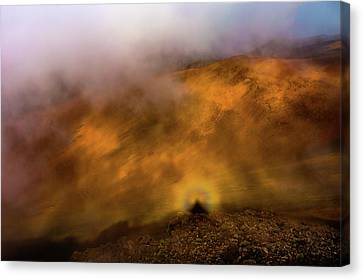 Canvas Print featuring the photograph Haleakala Halo by M G Whittingham