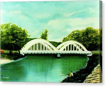 Haleiwa Bridge North Shore Oahu Hawaii #95 Canvas Print by Donald k Hall