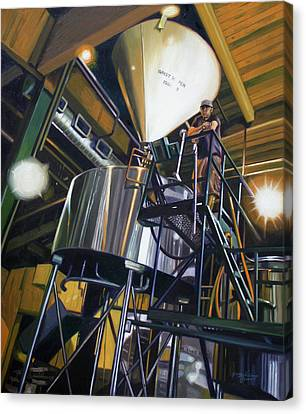 Hales Ales  Composition In Secondary Color Canvas Print by Gregg Hinlicky