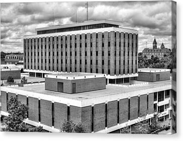 Haley Center In Black And White Canvas Print by JC Findley