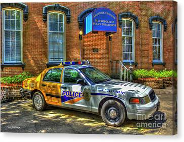 Half And Half What Is It Manna Savannah Georgia Police Art Canvas Print by Reid Callaway