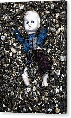 Half Buried Doll Canvas Print by Joana Kruse