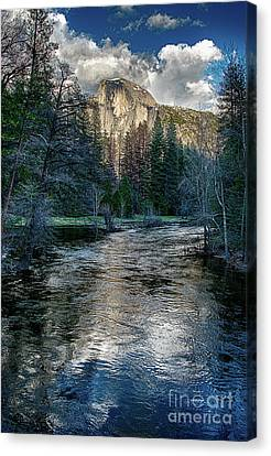 Canvas Print - Half Dome And The Merced River In Yosemite by Terry Garvin