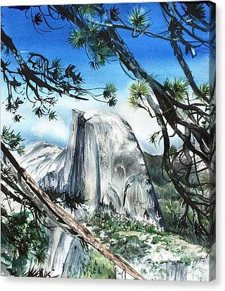 Half Dome In The Late Afternoon Canvas Print by Kate Peper
