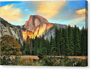 Half Dome Sunset Canvas Print by Chuck Kuhn
