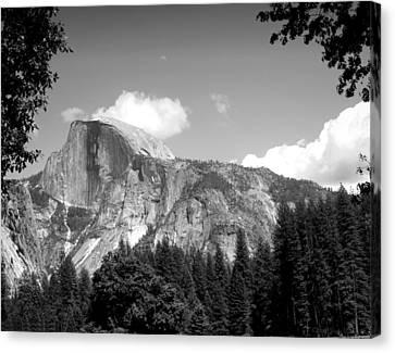 Half Dome Yosemite B And W Canvas Print