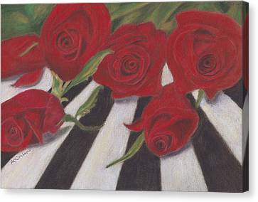 Canvas Print featuring the painting Half Dozen Red by Arlene Crafton