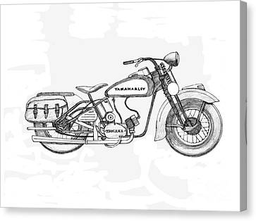 Disc Canvas Print - Half Hearted Harley by Stephen Brooks