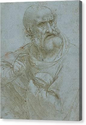 Half-length Canvas Print - Half-length Figure Of An Apostle by Leonardo da Vinci