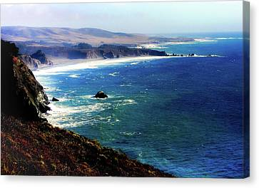 Half Moon Bay Canvas Print by Karen Wiles