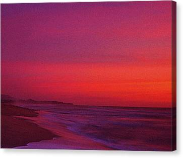 Half Moon Bay Sunset Canvas Print by Vicky Brago-Mitchell