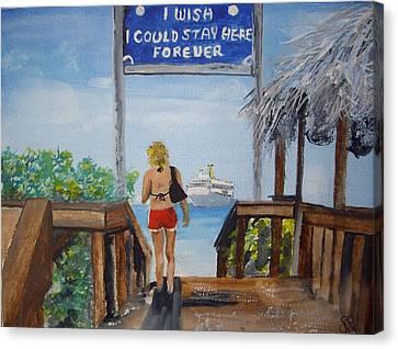 Half Moon Cay Bahamas Canvas Print