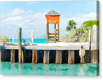 Half Moon Cay Canvas Print