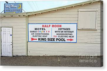 Half Moon Motel And Cottages Weirs Beach New Hampshire Canvas Print