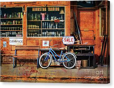 Canvas Print featuring the photograph Half Off Sale Bicycle by Craig J Satterlee