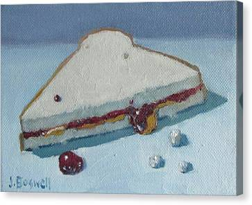 Half Pb And J With Crumbs Series 5 Canvas Print