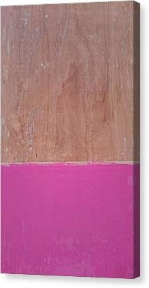 Half Pink Half Wood Canvas Print by Helene Smith